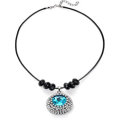 Damskie Syntetyczny Sapphire Naszyjniki z wisiorkami - minimalistyczny styl Zaokrąglanie Light Blue Naszyjniki Na Prezent / Codzienny /