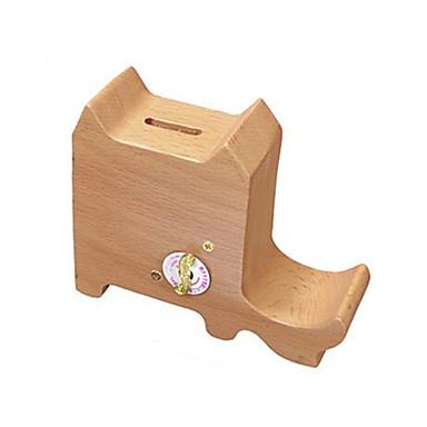 Music Box Zabawki Kot Drewniany Sztuk Dla obu płci Prezent