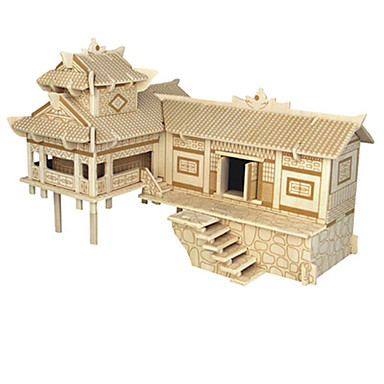 3D-puzzels Chinese architectuur Plezier Hout Klassiek