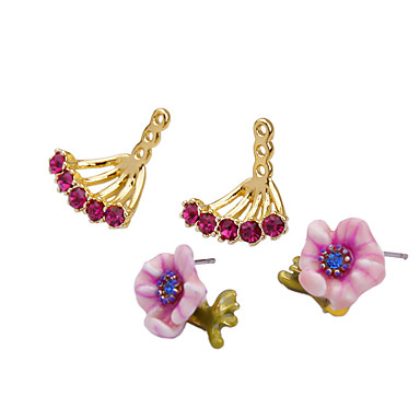Γυναικεία Κρίκοι Κρυστάλλινο Εξατομικευόμενο Euramerican Βρετανικό Φλοράλ Κοσμήματα Για Γάμου Πάρτι Γενέθλια
