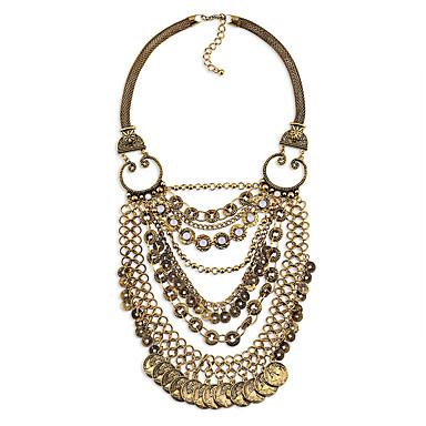للمرأة القلائد الطبقات كروم مخصص قديم euramerican في بيان المجوهرات مجوهرات من أجل زفاف حزب تهاني
