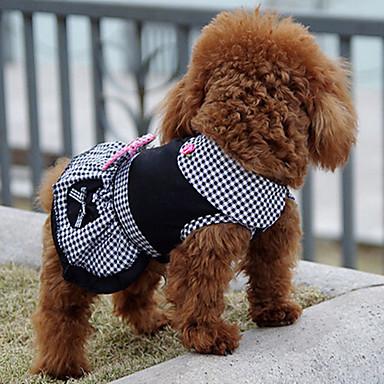 Koira Hameet Koiran vaatteet Prinsessa Musta Puuvilla Asu Lemmikit Miesten Naisten Klassinen Sievä Rento/arki Loma Syntymäpäivä