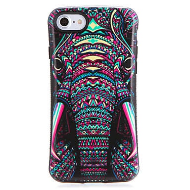 Voor apple iphone7 7plus case cover patroon back cover case olifant soft tpu 6s plus 6 plus 6s 6