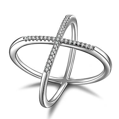 Pentru femei Inel de declarație Zirconiu Cubic Argintiu Plastic Zirconiu Cubic Altele Γεωμετρικά Design Unic Clasic Bijuterii Statement