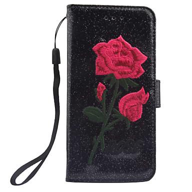 غطاء من أجل Samsung Galaxy S8 Plus S8 حامل البطاقات محفظة مع حامل قلب مغناطيس نموذج غطاء كامل للجسم زهور قاسي جلد PU إلى S8 Plus S8 S7
