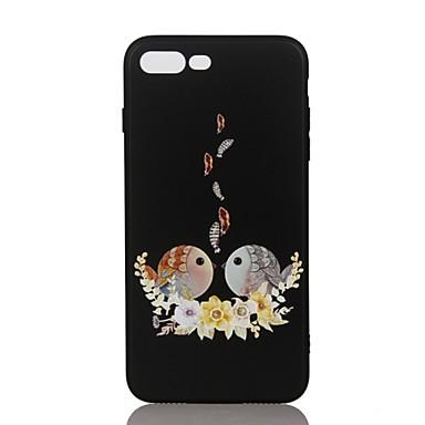 من أجل أغط / كفرات نموذج مطرز غطاء خلفي غطاء زهور حيوان ناعم TPU إلى Apple فون 7 زائد فون 7 iPhone 6s Plus iPhone 6 Plus iPhone 6s أيفون 6