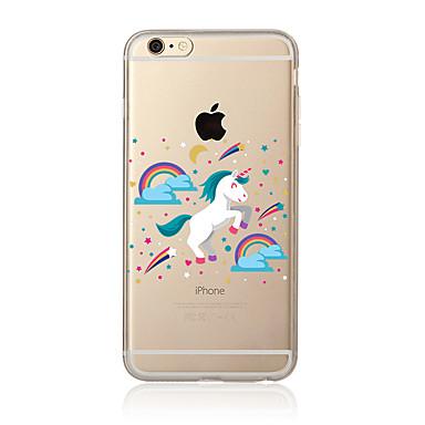hoesje Voor Apple iPhone 7 Plus iPhone 7 Transparant Patroon Achterkant Eenhoorn Zacht TPU voor iPhone 7 Plus iPhone 7 iPhone 6s Plus