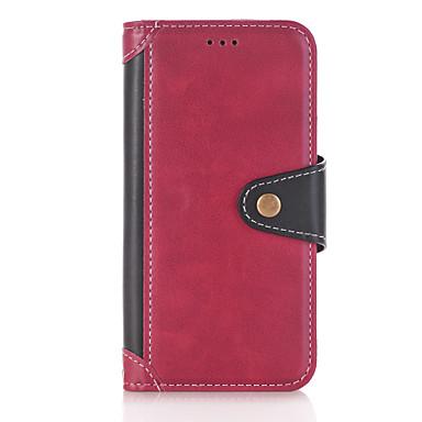 hoesje Voor Samsung Galaxy J5 (2016) Kaarthouder Portemonnee met standaard Flip Volledig hoesje Effen Kleur Hard PU-nahka voor J5 (2017)