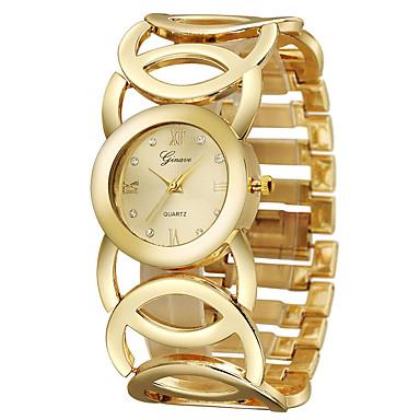 Damen Armbanduhr Quartz Edelstahl Band Armreif Cool Gold