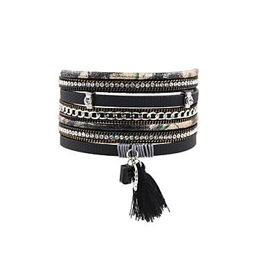 Dames Lederen armbanden Sieraden Vintage Bohémien Turks Modieus Leder Rechthoekig Sieraden Kerstcadeaus Bruiloft Feest Speciale
