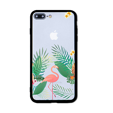 Hülle Für Apple Muster Rückseitenabdeckung Flamingo Hart Acryl für iPhone 7 plus iPhone 7 iPhone 6s Plus iPhone 6 Plus iPhone 6s iPhone 6