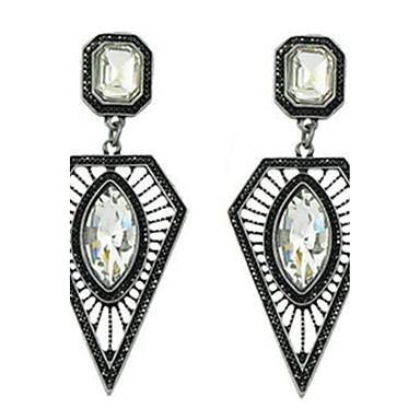 Dames Druppel oorbellen Bergkristal Luxe Uniek ontwerp Hangende stijl Modieus Euramerican Hars Legering Geometrische vorm Sieraden Feest