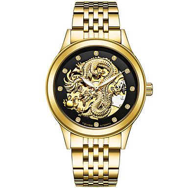 levne Pánské-Pánské Sportovní hodinky Hodinky s lebkou Vojenské hodinky japonština Automatické natahování Nerez Stříbro / Zlatá / Vícebarevný 30 m Kalendář kreativita imitace Diamond Analogové Přívěšky Luxus