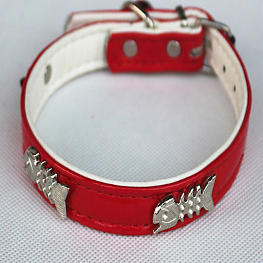 Katze Halsbänder Regolabile / Einziehbar Laufen Solide Schwarz Rot Blau