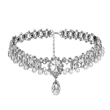 Audrey Hepburn Pandantiv Strălucitor & Sclipitor 1950 Lănțișor Pentru Evenimente / Petrecere Bal Petrecere Nuntă Pentru femei Fete Cristal Argintiu Costum de bijuterii