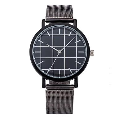 Herrn Modeuhr Armbanduhr Armbanduhren für den Alltag Chinesisch Quartz Edelstahl Band Cool Bequem Schwarz Silber