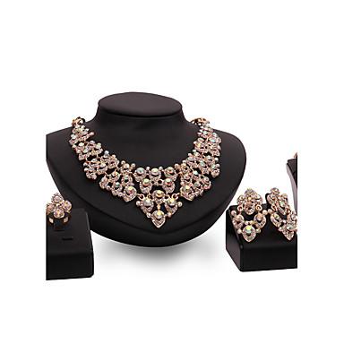 Pentru femei Seturi de bijuterii Ștras Sintetic Ruby Personalizat Lux Vintage Modă Euramerican Bijuterii Statement Petrecere Ocazie