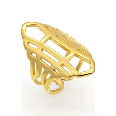 للرجال للمرأة خاتم خاتم البيان عصابة الفرقة مجوهرات ذهبي فضي الصلب التيتانيوم 18K الذهب دائري Geometric Shape مخصص زهري هندسي تصميم دائري