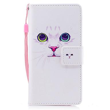 غطاء من أجل Samsung Galaxy A5(2017) A3(2017) حامل البطاقات محفظة مع حامل قلب مغناطيس نموذج غطاء كامل للجسم قطة قاسي جلد PU إلى A3 (2017)