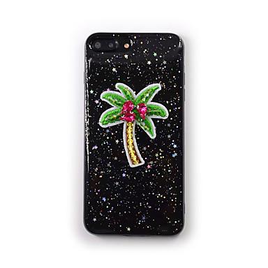 Pentru Apple iphone 7 plus 7 carcasă caz curge lichid transparent model spate acoperă caz copac silicon moale pentru iphone 6s plus 6