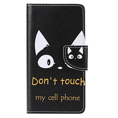 غطاء من أجل هواوي P9 هواوي P9 لايت هواوي P8 Huawei هواوي P8 لايت حامل البطاقات محفظة مع حامل قلب نموذج غطاء كامل للجسم قطة قاسي جلد PU إلى