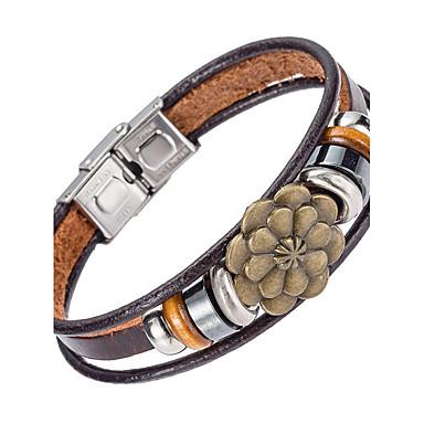 للرجال أساور من الجلد مجوهرات الطبيعة موضة جلد سبيكة مجوهرات من أجل مناسبة خاصة الرياضة