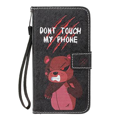 Hülle Für Samsung Galaxy S8 Plus S8 Kreditkartenfächer Geldbeutel mit Halterung Flipbare Hülle Muster Ganzkörper-Gehäuse Tier Hart