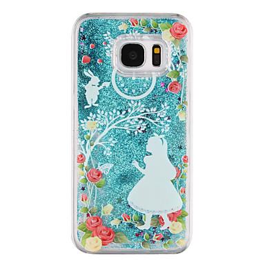 Maska Pentru Samsung Galaxy S8 Plus S8 Scurgere Lichid Transparent Model Carcasă Spate Transparent Desene Animate Luciu Strălucire Greu PC