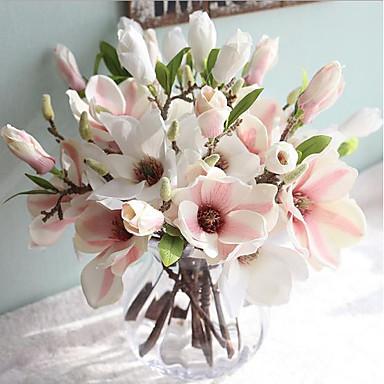 80b18817d Umělé květiny 1 Větev evropský styl Magnólie Květina na stůl 5931271 2019 –  €5.24