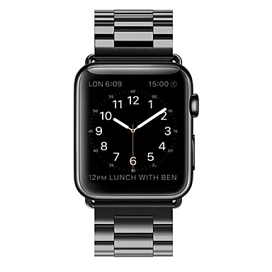 Horlogeband voor Apple Watch Series 3 / 2 / 1 Apple Butterfly Buckle Roestvrij staal Polsband