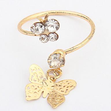 Heren Dames Ring manchet Ring Bergkristal Gepersonaliseerde Bloemen Meetkundig Uniek ontwerp Logostijl Bloemenstijl Klassiek Vintage
