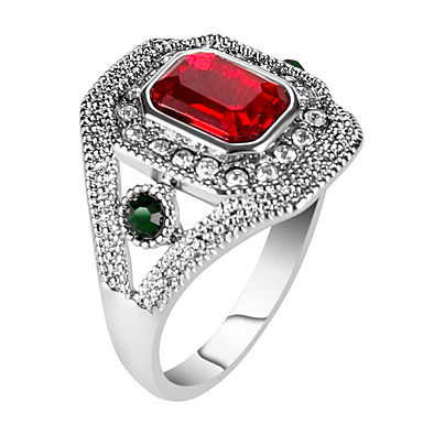 Damen Statement-Ring / Ring - Harz, Aleación Personalisiert, Luxus, Einzigartiges Design 7 / 8 / 9 Rot / Grün Für Party / Jahrestag / Geburtstag