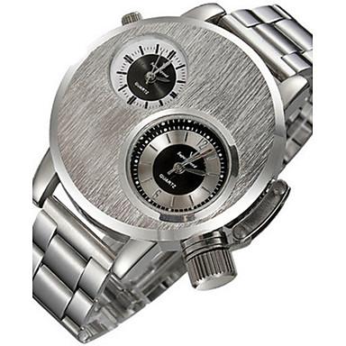 Heren Sporthorloge Modieus horloge Kwarts Legering Band Zwart Zilver