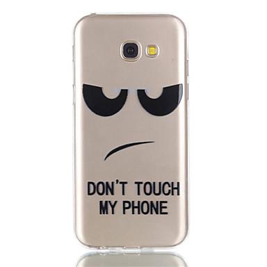 Hülle Für Samsung Galaxy A5(2017) A3(2017) Transparent Muster Rückseite Wort / Satz Weich TPU für A3 (2017) A5 (2017)