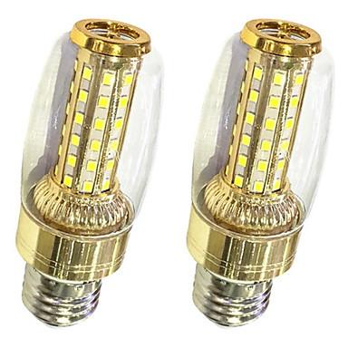 2pcs 9W 620lm lm Becuri LED Corn T 58pcs led-uri SMD 2835 Alb Cald Alb 220V-240V
