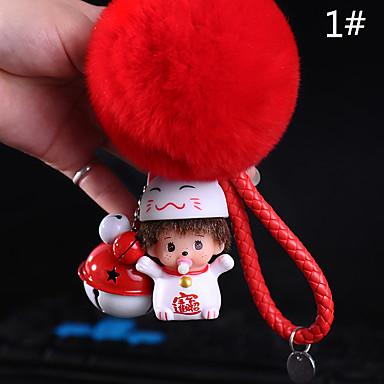 حقيبة / الهاتف / المفاتيح سحر لطيف جلجل جرس الفراء الكرة الكرتون لعبة الهاتف حزام بك