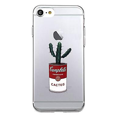 Maska Pentru Apple iPhone X iPhone 8 Model Carcasă Spate Cuvânt / expresie Moale TPU pentru iPhone X iPhone 8 Plus iPhone 8 iPhone 7 Plus