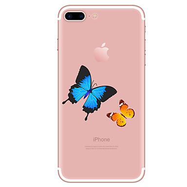 Für Hüllen Cover Transparent Muster Rückseitenabdeckung Hülle Schmetterling Weich TPU für AppleiPhone 7 plus iPhone 7 iPhone 6s Plus