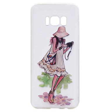hoesje Voor Samsung Galaxy S8 Plus S8 Transparant Patroon Achterkant Sexy dame Cartoon Zacht TPU voor S8 Plus S8