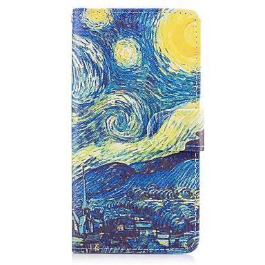 hoesje Voor Samsung Galaxy Kaarthouder Portemonnee met standaard Flip Volledig hoesje Landschap Hard PU-nahka voor Note 5