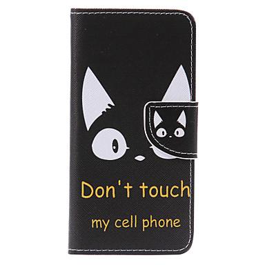 Maska Pentru Samsung Galaxy A5(2017) A3(2017) Titluar Card Portofel Cu Stand Întoarce Model Carcasă Telefon Pisica Greu PU piele pentru