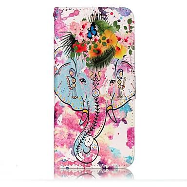 Maska Pentru Samsung Galaxy S8 Plus S8 Portofel Titluar Card Cu Stand Întoarce Embosat Model Magnetic Corp Plin Elefant Floare Greu PU
