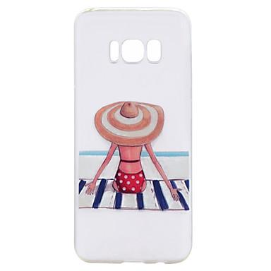 hoesje Voor Samsung Galaxy S8 Plus S8 Transparant Patroon Achterkantje Sexy dame Cartoon Zacht TPU voor S8 S8 Plus