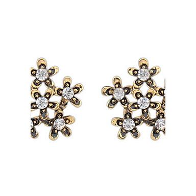 Bărbați Pentru femei Cercei Stud Diamant sintetic Design Basic Floral Sexy La modă Vintage Personalizat Cute Stil Euramerican Ștras Aliaj