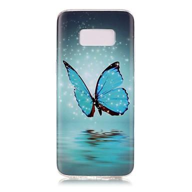 Hülle Für Samsung Galaxy S8 Plus S8 Im Dunkeln leuchtend Muster Rückseitenabdeckung Schmetterling Weich TPU für S8 S8 Plus S7 edge S7 S6