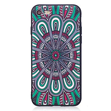 Maska Pentru Apple Model Carcasă Spate Mandala Moale TPU pentru iPhone 7 Plus iPhone 7 iPhone 6s Plus iPhone 6 Plus iPhone 6s iphone 6