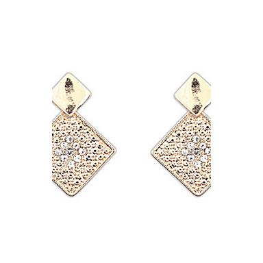 Damen Ohrstecker Tropfen-Ohrringe Kreolen Strass Personalisiert Religiöser Schmuck Geometrisch Einzigartiges Design Logo Stil Klassisch