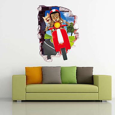 Dieren Feest Vrije tijd Muurstickers Vliegtuig Muurstickers Decoratieve Muurstickers 3D,Papier Materiaal Huisdecoratie Muursticker