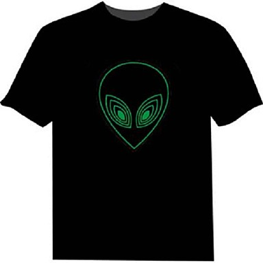 led t-shirts 100% katoen 2 aaa batterijen van hoge kwaliteit nachtlicht
