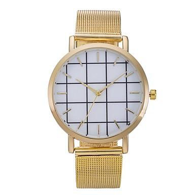 Damen Modeuhr Armbanduhr Armbanduhren für den Alltag Chinesisch Quartz Edelstahl Band Cool Bequem Schwarz Silber